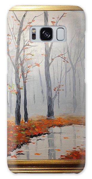 Misty Stream In Autumn Galaxy Case