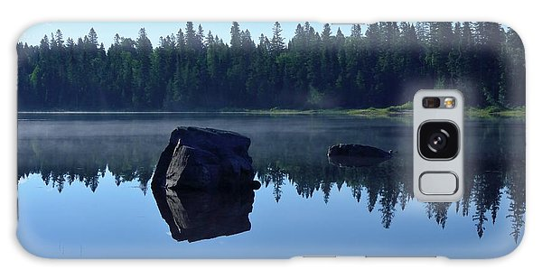Misty Summer Morning Galaxy Case by David Porteus