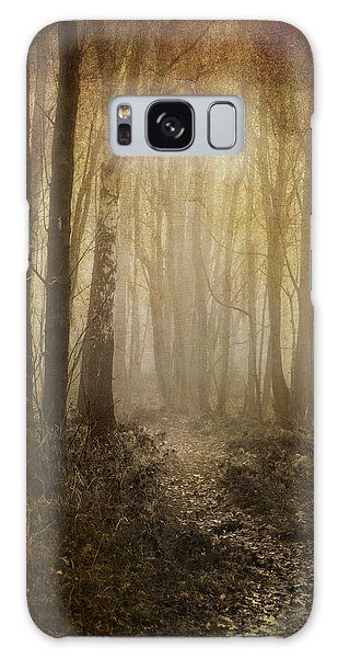 Misty Woodland Path Galaxy Case