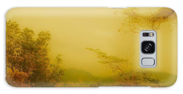 Misty Yellow Hue- El Valle De Anton Galaxy Case
