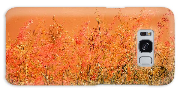 Misty Yellow Hue- Pink Blooms Galaxy Case