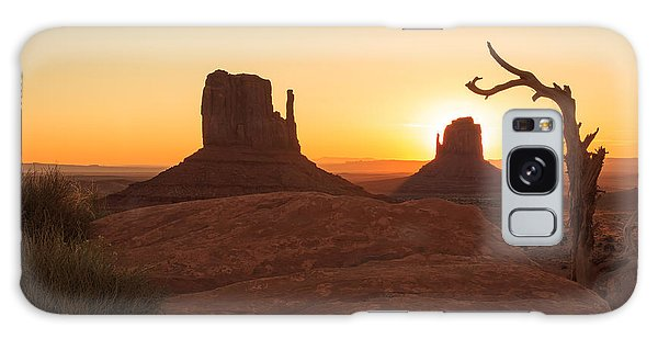 Desert View Tower Galaxy Case - Mittens Sunrise by Johnny Adolphson