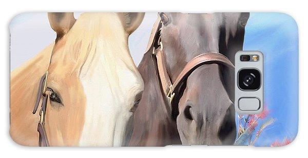 Miwok Horses Galaxy Case by Julianne  Ososke