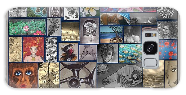 Galaxy Case - Mix It Up Collage by Joan Stratton