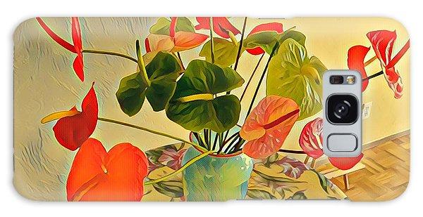 Mixed Aloha Anthuriums Matisse Galaxy Case