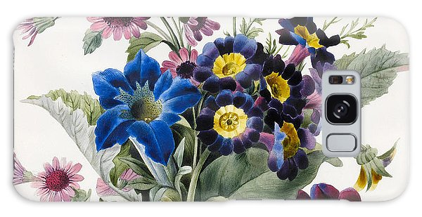 Plants Galaxy Case - Mixed Flowers by Louise D'Orleans