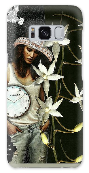 Mixed Media Collage Lost In Thought Galaxy Case by Lisa Noneman