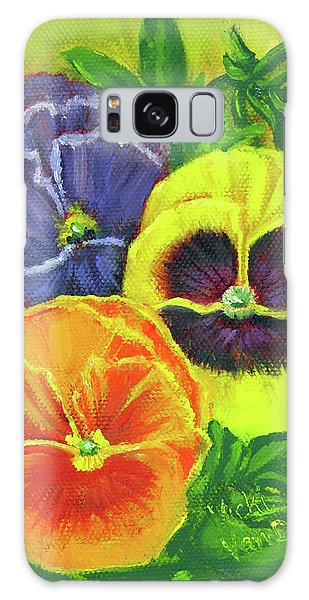 Mixed Pansy Seed Packet Galaxy Case