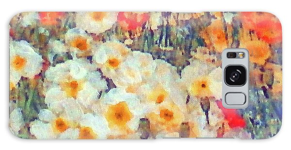 Mixed Poppies Galaxy Case