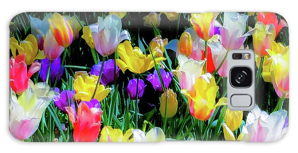 Mixed Tulips In Bloom  Galaxy Case