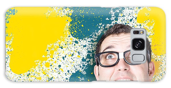 It Professional Galaxy Case - Mixed Up Graphic Designer Struggling With Client by Jorgo Photography - Wall Art Gallery