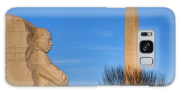 Martin Luther Galaxy Case - Mlk And Washington Monuments by Olivier Le Queinec
