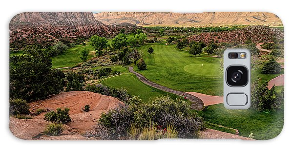 Moab Desert Canyon Golf Course At Sunrise Galaxy Case