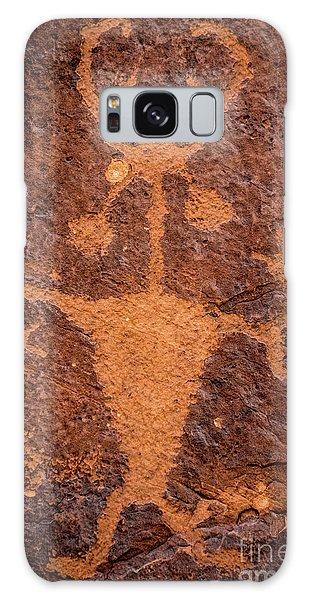 Moab Man Petroglyph Portrait - Utah Galaxy Case