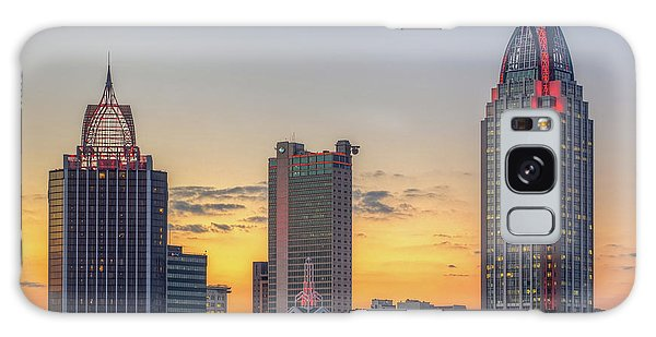 Mobile Skyline At Sunset Galaxy Case