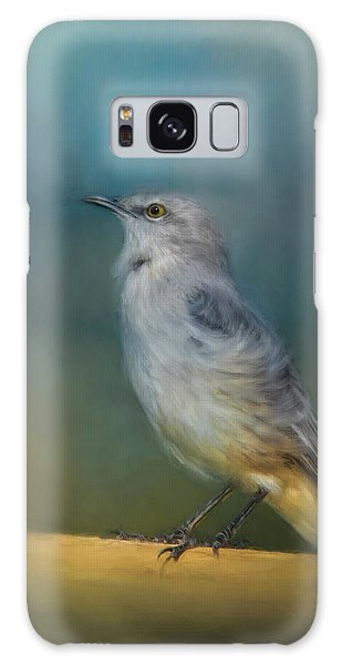 Mockingbird On A Windy Day Galaxy Case