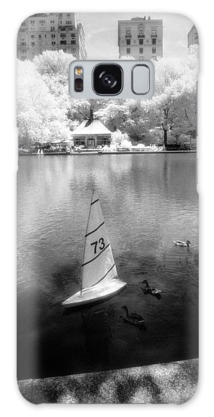 Galaxy Case featuring the photograph Model Boat Lake Central Park by Dave Beckerman