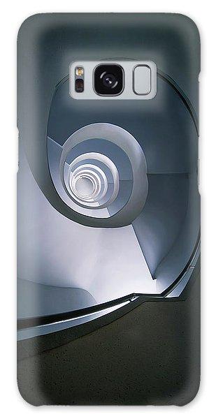 Modern Blue Spiral Staircase Galaxy Case by Jaroslaw Blaminsky
