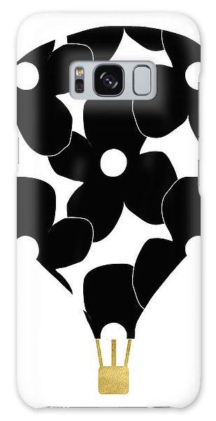 Hot Air Balloons Galaxy Case - Modern Floral Hot Air Balloon- Art By Linda Woods by Linda Woods