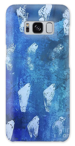 Galaxy Case featuring the painting Modern Fossil by Robin Maria Pedrero