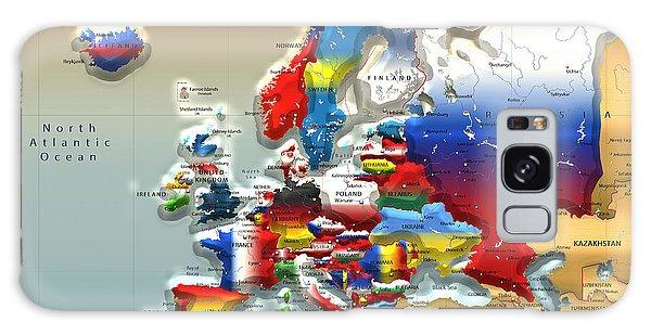 Political Galaxy Case - Modern Portrait Of Modern Europe - 3d by Serge Averbukh