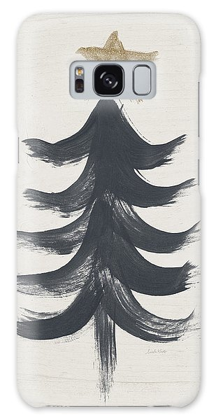 Tree Galaxy Case - Modern Primitive Black And Gold Tree 1- Art By Linda Woods by Linda Woods