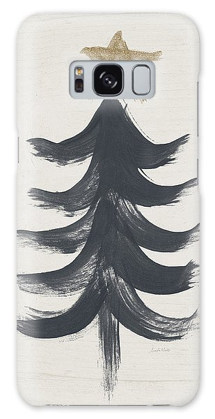 Holiday Galaxy Case - Modern Primitive Black And Gold Tree 1- Art By Linda Woods by Linda Woods