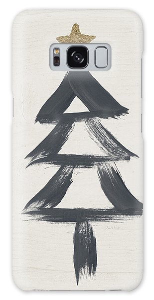 Holiday Galaxy Case - Modern Primitive Black And Gold Tree 2- Art By Linda Woods by Linda Woods