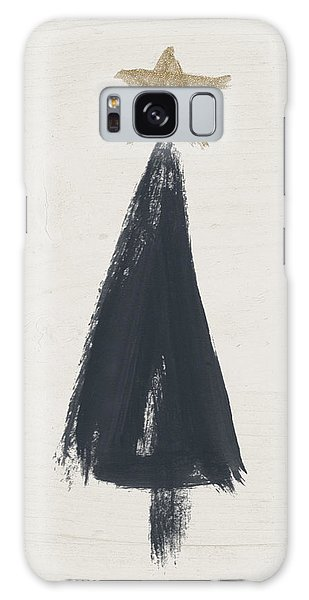 Holiday Galaxy Case - Modern Primitive Black And Gold Tree 3- Art By Linda Woods by Linda Woods