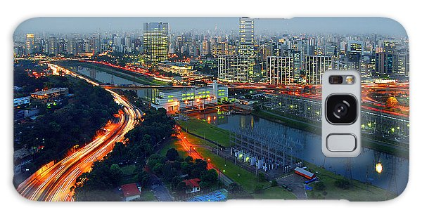 Modern Sao Paulo Skyline - Cidade Jardim And Marginal Pinheiros Galaxy Case
