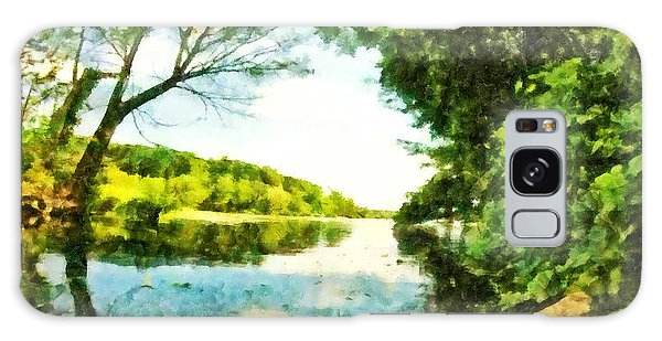 Galaxy Case featuring the photograph Mohegan Lake By The Bridge by Derek Gedney