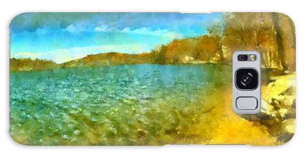 Galaxy Case featuring the painting Mohegan Lake Panoramic Beach by Derek Gedney