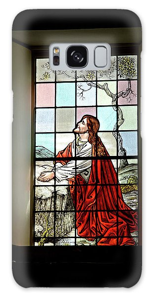Mokuaikaua Church Stained Glass Window Galaxy Case
