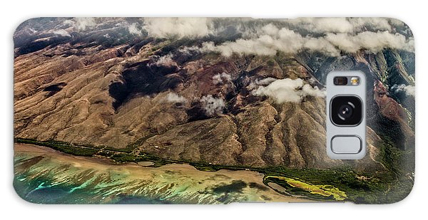 Molokai From The Sky Galaxy Case by Joann Copeland-Paul