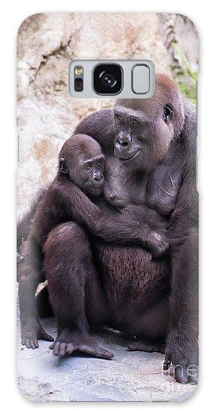 Mom And Baby Gorilla Sitting Galaxy Case
