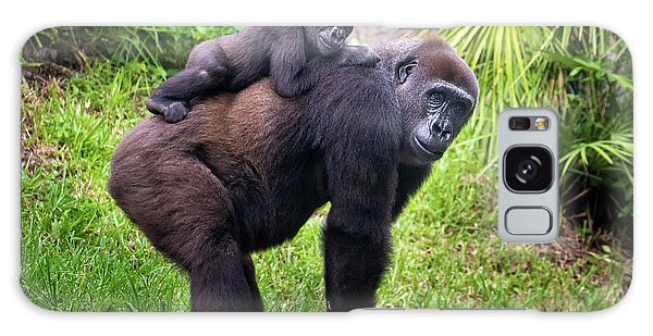 Mom And Baby Gorilla Galaxy Case by Stephanie Hayes