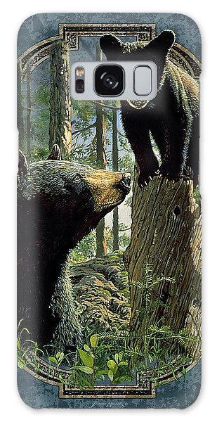 Mom And Cub Bear Galaxy Case