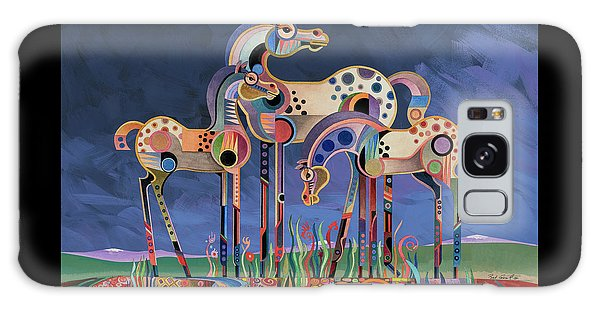 Mom And Foals Galaxy Case by Bob Coonts