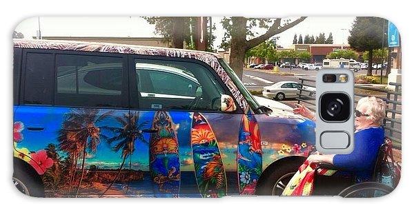 Mom Loves Surf Car Galaxy Case