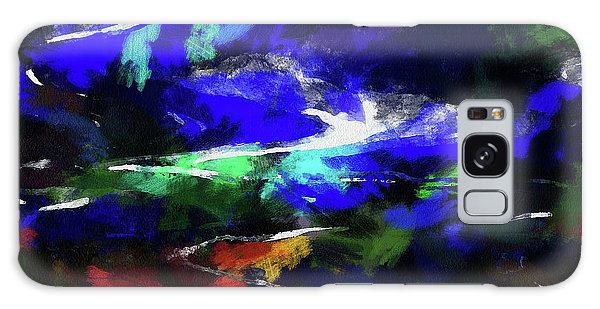 Moment In Blue Lazy River Galaxy Case by Cedric Hampton