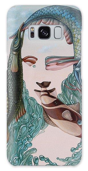 Mona Lisa. Water Galaxy Case