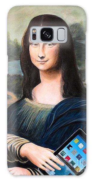 Mona Lisa With Ipad Galaxy Case