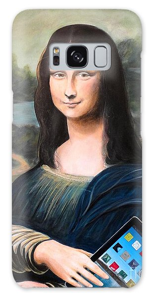 Mona Lisa With Ipad Galaxy Case