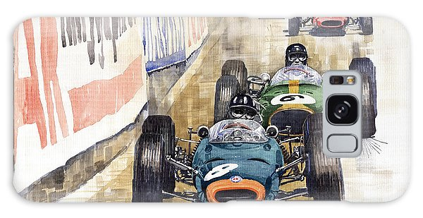 Watercolour Galaxy Case - Monaco Gp 1964 Brm Brabham Ferrari by Yuriy Shevchuk