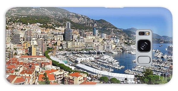 Monaco Port Hercule Panorama Galaxy Case by Yhun Suarez