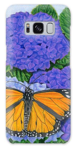 Monarch Galaxy Case - Monarch Butterflies And Hydrangeas by Sarah Batalka