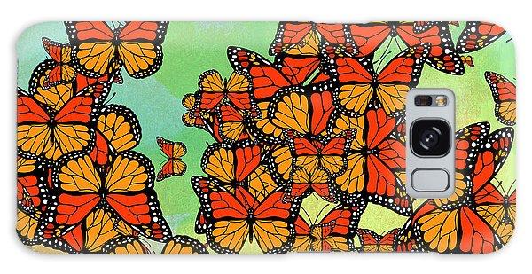 Monarch Butterflies Galaxy Case by Gaspar Avila