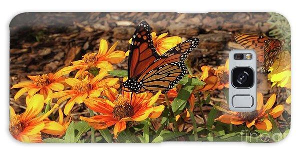 Galaxy Case - Monarch Butterflies by Megan Cohen