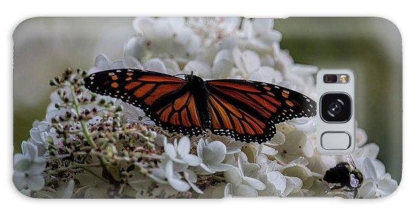 Monarch Butterfly Feeding On Hydrangea Tree Galaxy Case