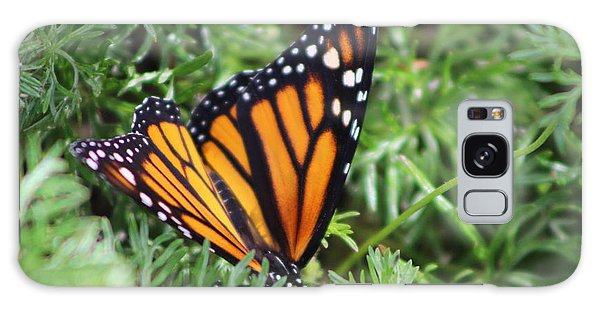 Monarch Butterfly In Lush Leaves Galaxy Case
